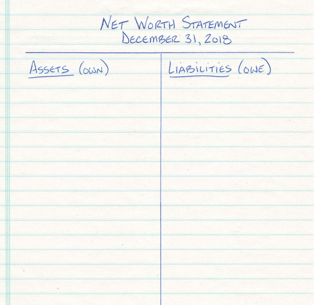 Net Worth Statement - Template