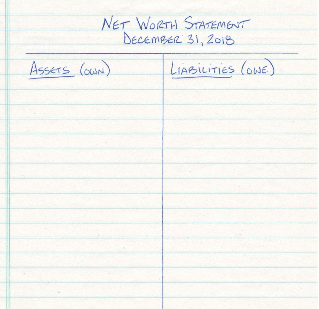 Net Worth Statement - Template